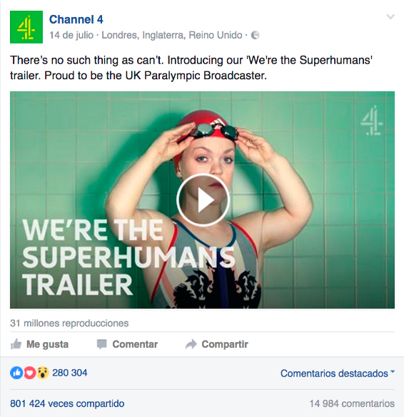 campaña para los Juegos Paralímpicos 2016 de Channel 4